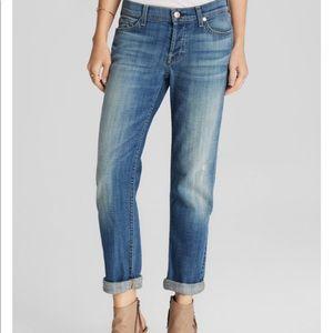 7FAMK Boy Cut Buttonfly Jeans 29x32